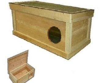 Ark Workshop Medium Outdoor Cat House wood shelter home ferals strays pets - RS RD