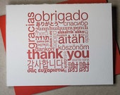 Letterpress multilingual thank-you card (#TX005)