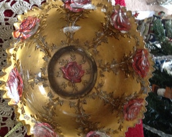 Rose painted bowl