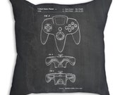 Nintendo 64 Controller Pillow, Game Room Decor, Nintendo Pillow, Gamer Pillow