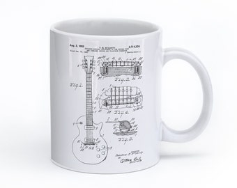 Gibson Les Paul Mug, Guitarist, Music Mug, Guitar Mug, Musician Gift, Electric Guitar, Music Coffee Mug, PP0047