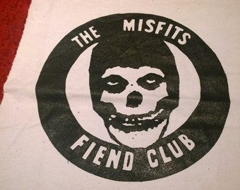 THE MISFITS fiend club BACKPATCH punk horror samhain danzig