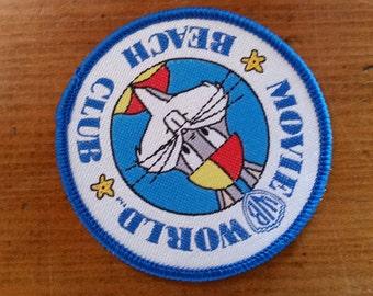 Movieworld Beach club Australia cloth embroidered patch