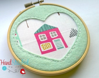 Embroidery Hoop Wall Hanging -  Handmade hoop art, Unique gift for the home