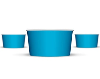 50 6 oz Blue Paper Hot/Cold Ice Cream Cups