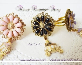 Flower Carriage Ring