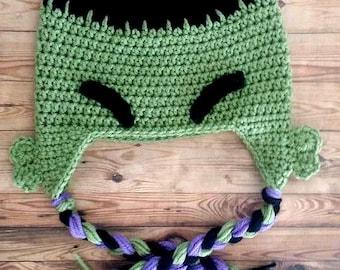 Crochet Hulk Hat