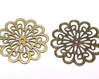 8 pcs 60 mm filigree pendants,antique Bronze filigree,brass filigree,Antique bronze connector,brass pendant filigree,brass base setting
