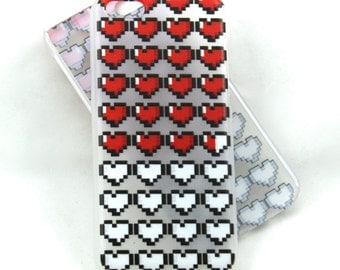 life hearts case for iPhone 5c - pixel hearts, full of life, zelda inspired
