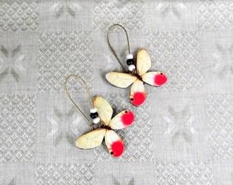 Glasswing Butterfly Wing earrings, Butterfly earrings, Butterfly jewelry, Wing jewelry, Butterfly wing, Insect jewelry