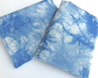 Variegated Blue and White Tie Dye Fabric