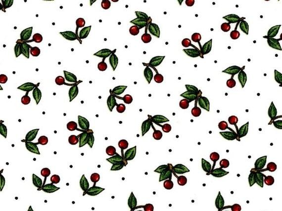 Cranston VIP Fabric Mary Engelbreit White Background Red