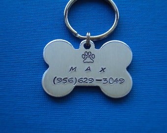 Dog name tags (bone shape) - choose the color (material)