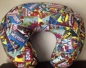 Marvel Superhero Comic (X-Men, Captain America, Thor, Wolverine, Iron Man, Spiderma) - Bib & Boppy Cover