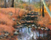 Hidden path, Original Oil Painting, 6 x6 inches, on arches oil paper