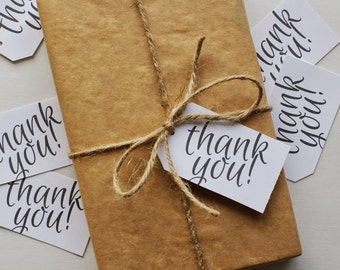 Thank You | Parcel Gift Tags