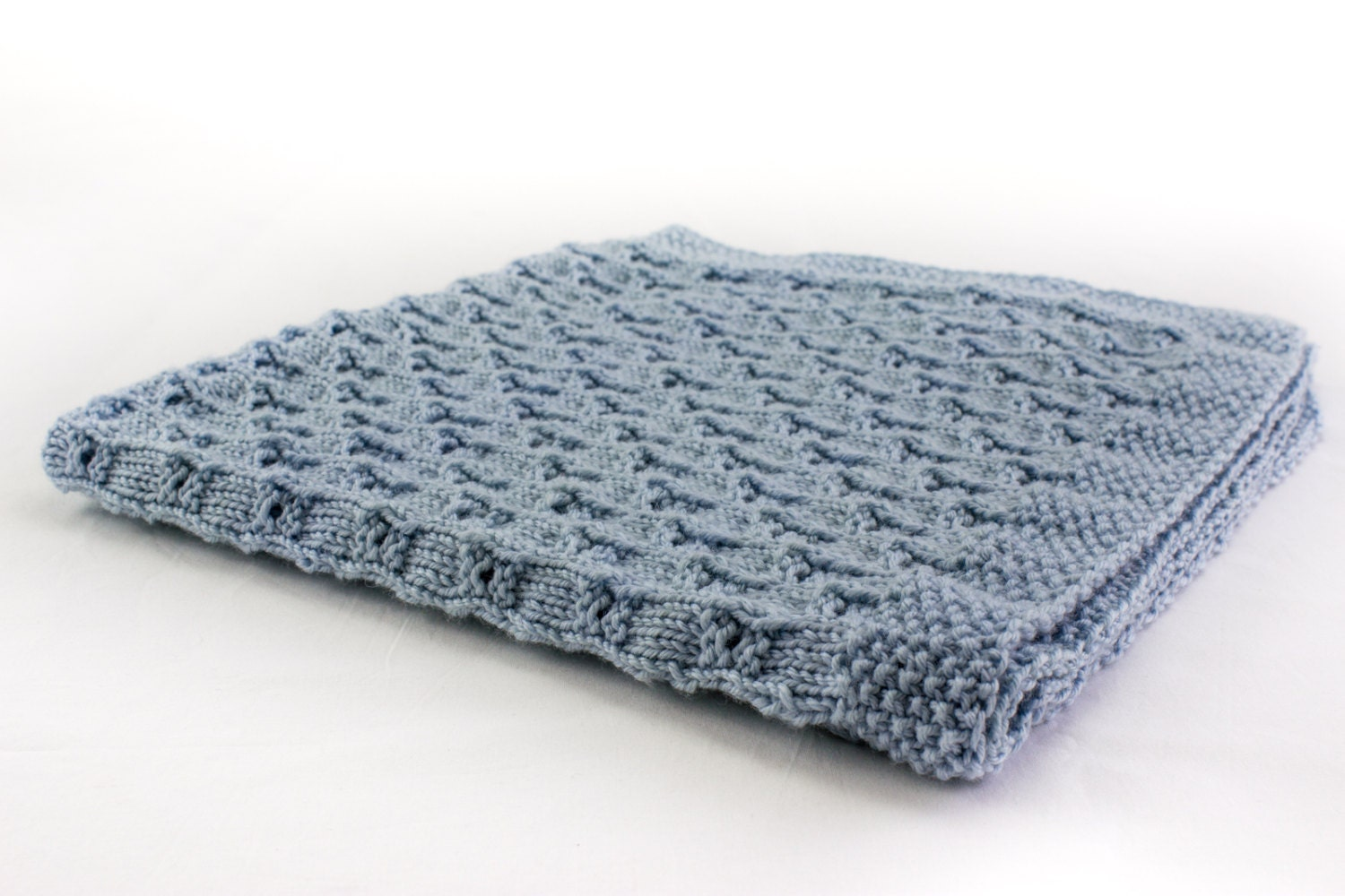 Free Online Knitting Patterns For Baby Blankets : KNITTING PATTERN Baby Blanket Knitting Pattern 8 ply Yarn