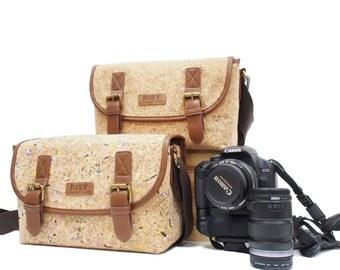 RISY Cork Camera Bag / Shoulder / Messenger Bag