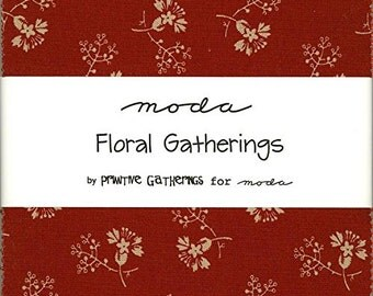 Floral Gatherings Charm Pack by Primitive Gatherings for Moda Fabrics