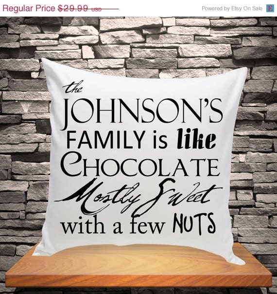 Personalized Family Throw Pillow : Personalized Throw Pillow Family is Like by CreativeByClair