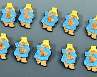 Paddington Bear Buttons - 10