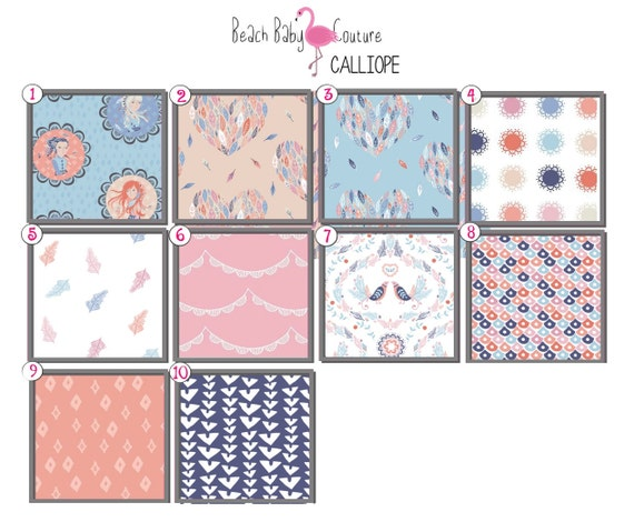 Calliope Fitted Crib Sheet Changing Pad Cover Standard Or