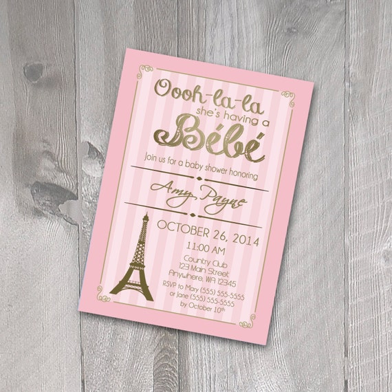 paris baby shower invitation printable invitation french theme baby