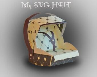 3D SVG Baby Carrier car seat DIGITAL download