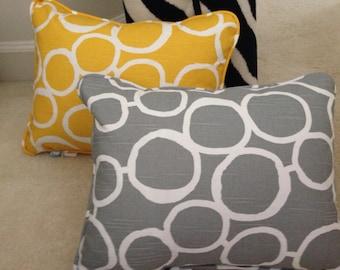 Circles Print Pillow