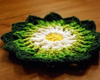 daisy, daisy coasters, crochet daisy, crochet coasters, crochet spring, crochet easter, crochet coasters, PDF instant download pattern