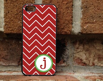 Personalized iPhone Case, - iPhone 4, iPhone 4s, iPhone 5, Samsung Galaxy S3, Galaxy s4 - Christmas - Winter - red - green - 184
