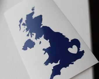London, England Car Decal, Wall Decal, Vinyl Decal United Kingdom