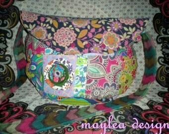 Electrical patchwork * Phantasia * hippie Goa great patchwork shoulder bag