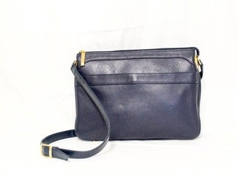Free Ship Giani Bernini Purse Genuine Leather Blue Shoulder Bag