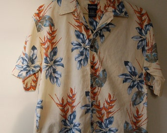 Men's Vintage Aloha Hawaiian Button Up Shirt