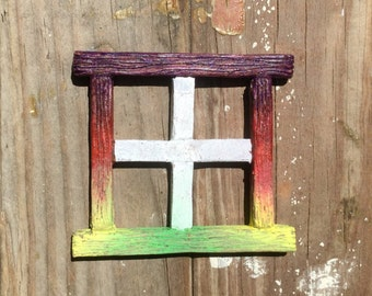 "3"" Fairy Window ""square-style"" -rainbow"