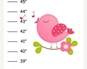 Personalized Bird & Bird Houses Canvas Growth Chart