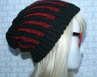 Black - Red beanie