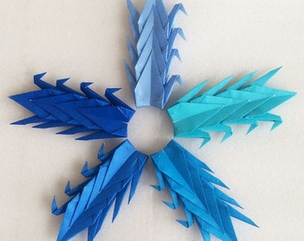 "100 3"" Blue Tones Origami Paper Cranes - Wedding Decoration, Party Decoration, Events"