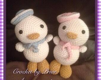 Hand Crocheted Sailor Duck