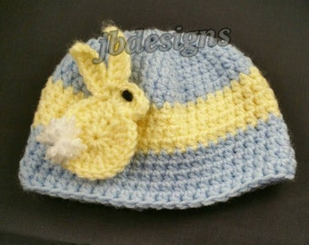 Easter hat, baby chick, easter bunny, easter chick, crochet baby hat, Easter baby, baby boy, baby girl, Easter baby hat, beanie, photo prop