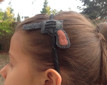 Head band and revolver felt design (from 100% recycled plastic bottle)