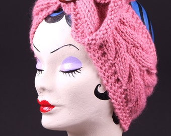 Hand knitted turban. Vintage style. 40s. one of a kind
