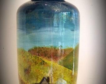 "Ceramic Urn - ""Goldfield dreams"""