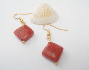 Sponge Coral earrings.