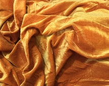 GOLD Velvet Fabric Yardage Commercial Fabric Curtain Fabric dress Fashion Velvet Upholstery Fabric Decorative Fabric Window Treatment Fabric