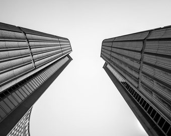 Black and White Architecture Photography, Toronto City Hall, Oversized Art, Building Photography, Landmark Photography, Large Wall Art