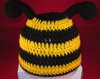 Crochet Bumble bee hat, prices vary, please see full listing.