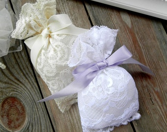 Lace favor bags - Wedding favor bags - Gift bags