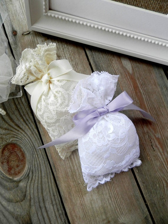 Wedding Favor Bags Lace : Lace favor bags Wedding favor bags Gift bags by MadeInBurlap